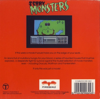Scary Monsters Box Back