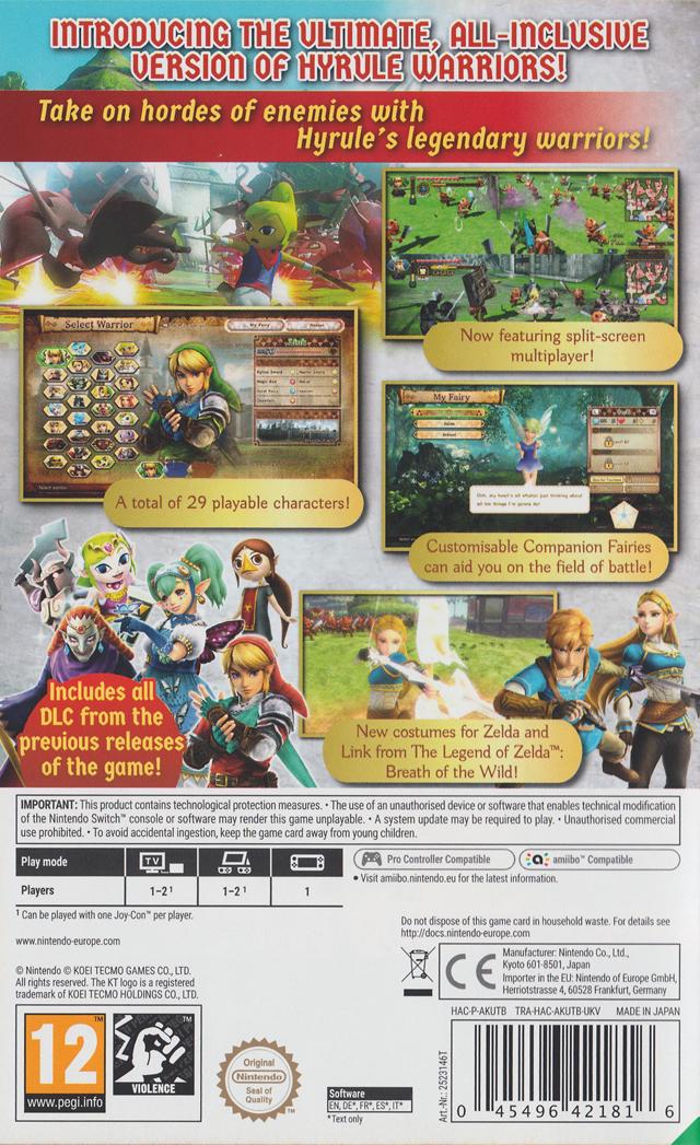 Hyrule Warriors Definitive Edition Box Shot For Nintendo Switch Gamefaqs