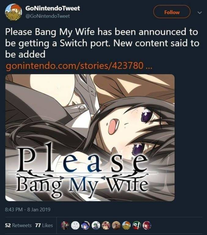 Please Bang My Wife Switch
